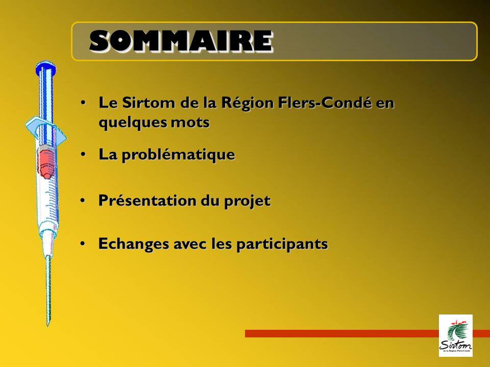 SOMMAIRESOMMAIRE Le Sirtom de la Région Flers-Condé en quelques motsLe Sirtom de la Région Flers-Condé en quelques mots La problématiqueLa problématiq