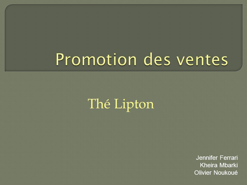 Thé Lipton Jennifer Ferrari Kheira Mbarki Olivier Noukoué