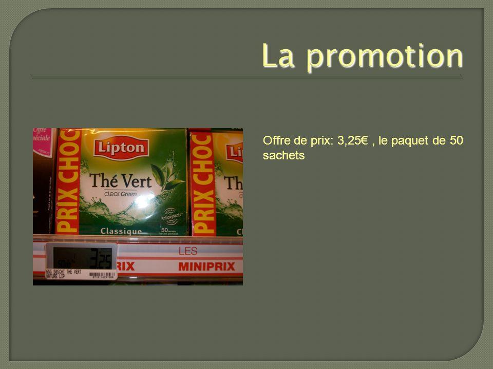 Offre de prix: 3,25€, le paquet de 50 sachets