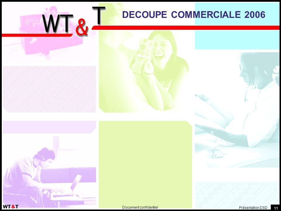 Document confidentiel WT&T Présentation DSD 11 DECOUPE COMMERCIALE 2006