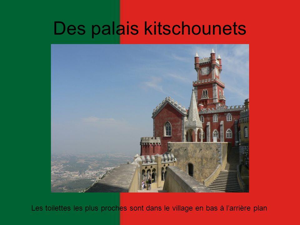 Des palais kitschounets Les toilettes les plus proches sont dans le village en bas à l'arrière plan
