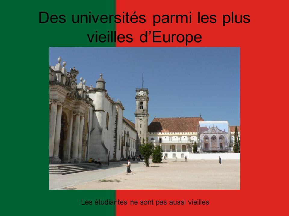 Des universités parmi les plus vieilles d'Europe Les étudiantes ne sont pas aussi vieilles