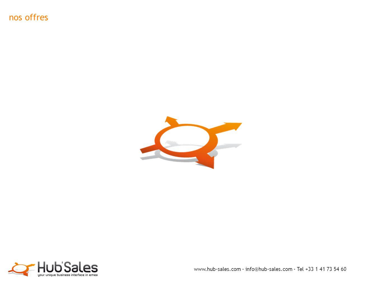 nos offres www.hub-sales.com - info@hub-sales.com - Tel +33 1 41 73 54 60