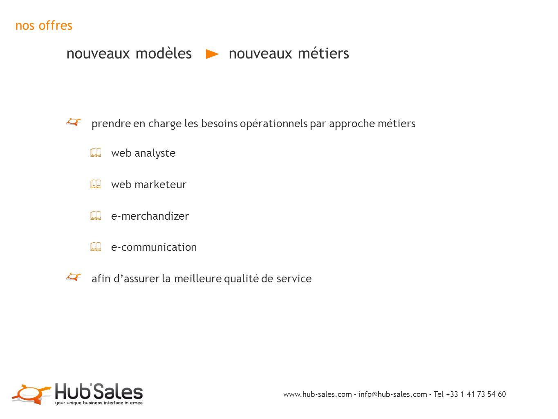 nos offres nouveaux modèles nouveaux métiers prendre en charge les besoins opérationnels par approche métiers ✦ web analyste ✦ web marketeur ✦ e-merch