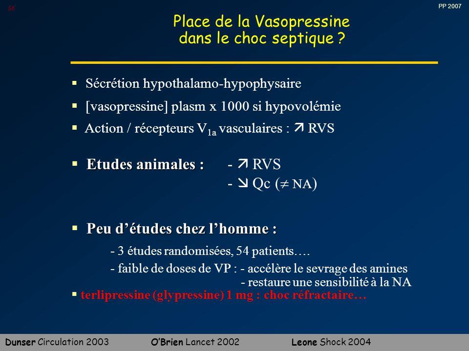 PP 2007 56 Place de la Vasopressine dans le choc septique .