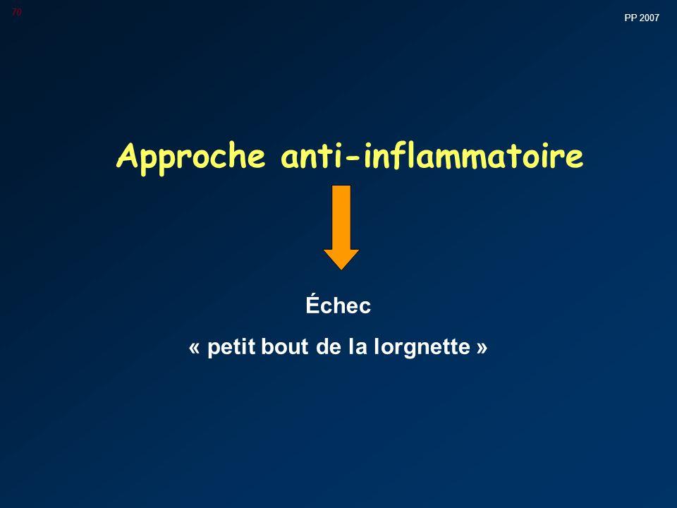 PP 2007 70 Approche anti-inflammatoire Échec « petit bout de la lorgnette »
