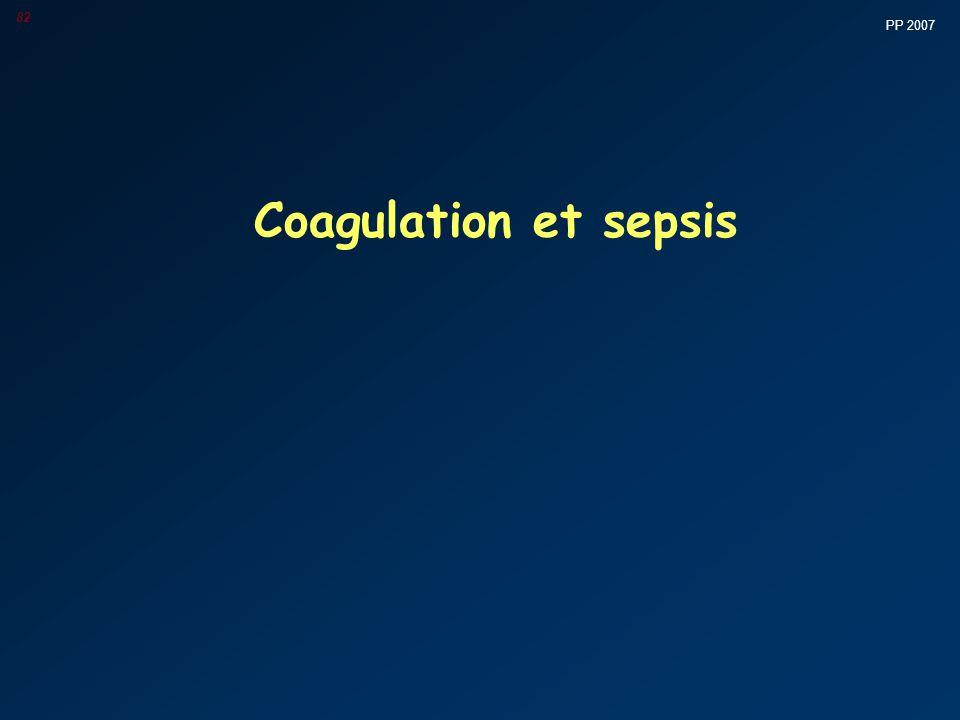 PP 2007 82 Coagulation et sepsis