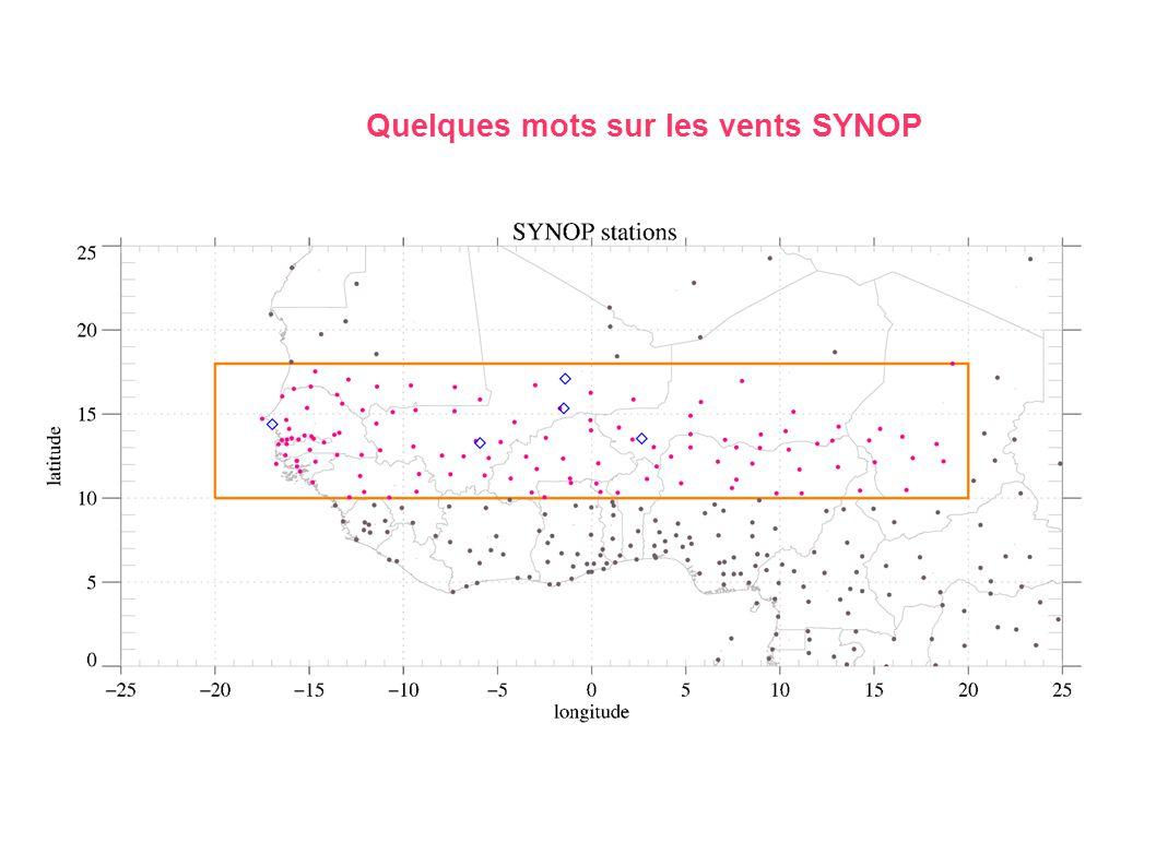Quelques mots sur les vents SYNOP