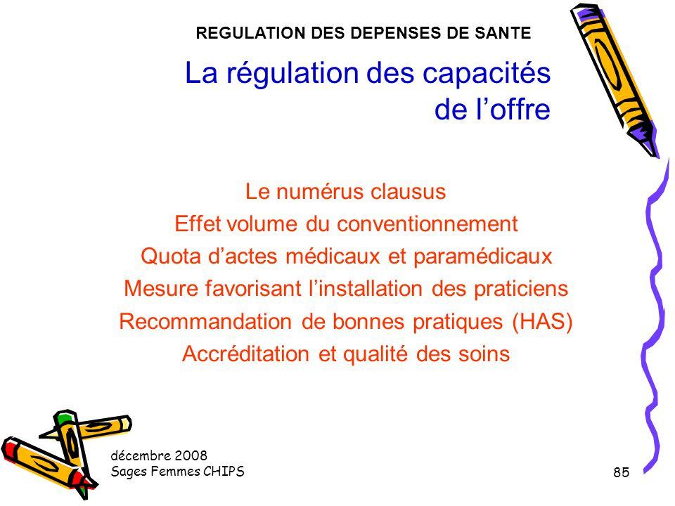 décembre 2008 Sages Femmes CHIPS 84 établissements sanitaires budget Le dispositif d'allocation de ressources aux hôpitaux. agences régionales de l'ho