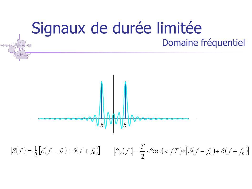 Signaux de durée limitée Domaine temporel