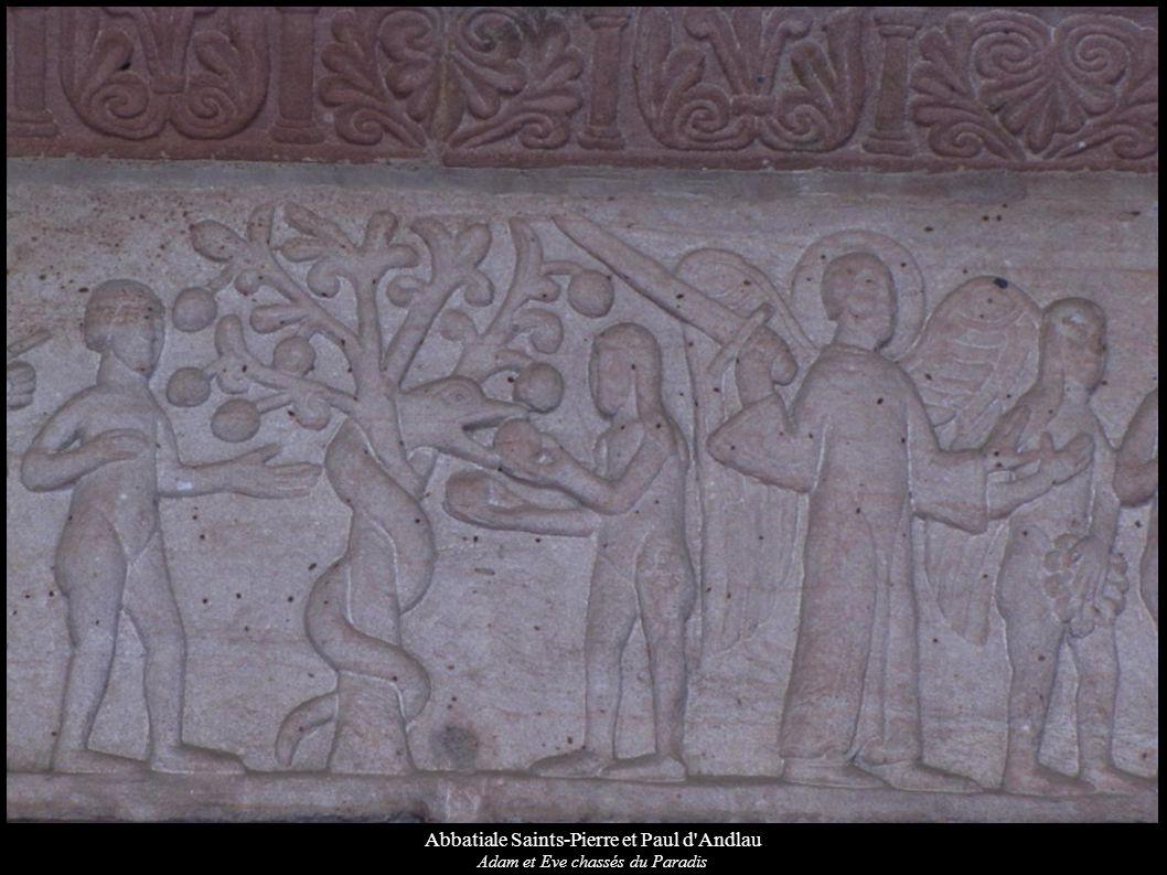 Abbatiale Saints-Pierre et Paul d'Andlau Adam et Eve chassés du Paradis