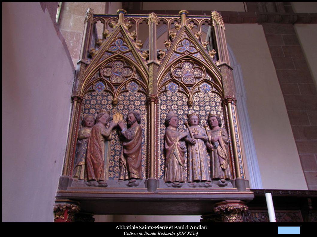 Abbatiale Saints-Pierre et Paul d'Andlau Châsse de Sainte-Richarde (XIV-XIXe)