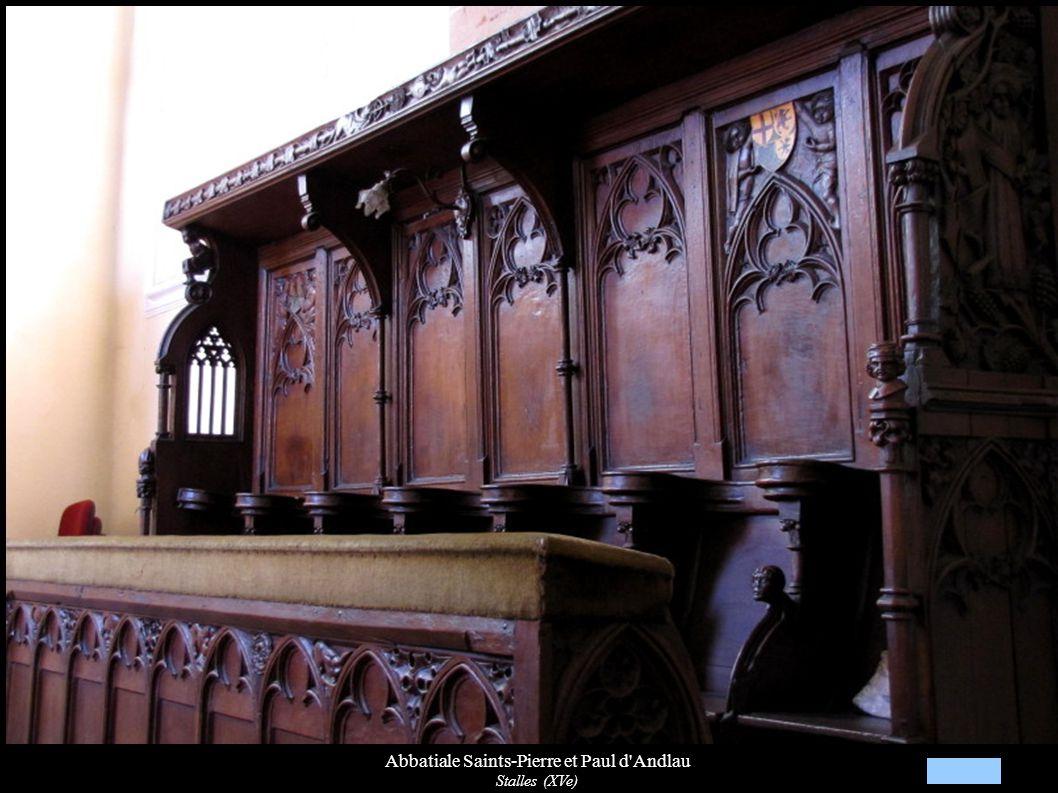 Abbatiale Saints-Pierre et Paul d'Andlau Stalles (XVe)