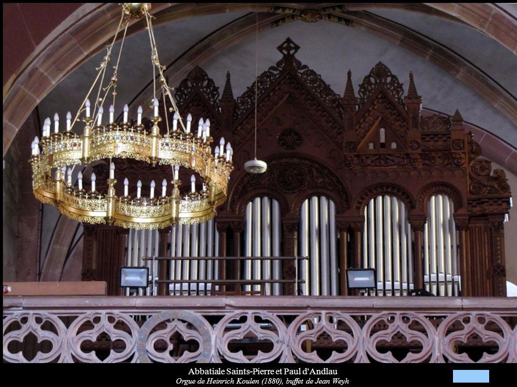 Abbatiale Saints-Pierre et Paul d'Andlau Orgue de Heinrich Koulen (1880), buffet de Jean Weyh