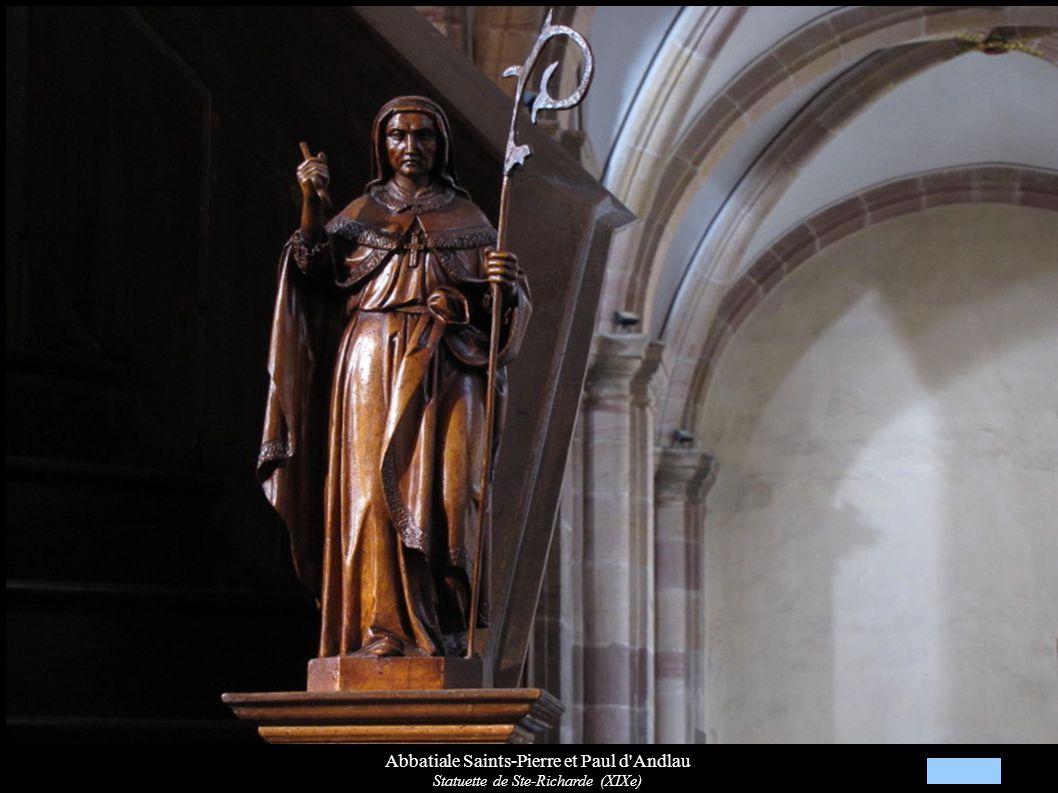 Abbatiale Saints-Pierre et Paul d'Andlau Statuette de Ste-Richarde (XIXe)