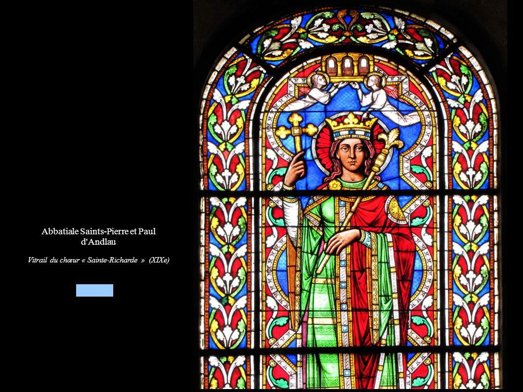 Abbatiale Saints-Pierre et Paul d'Andlau Vitrail du chœur « Sainte-Richarde » (XIXe)