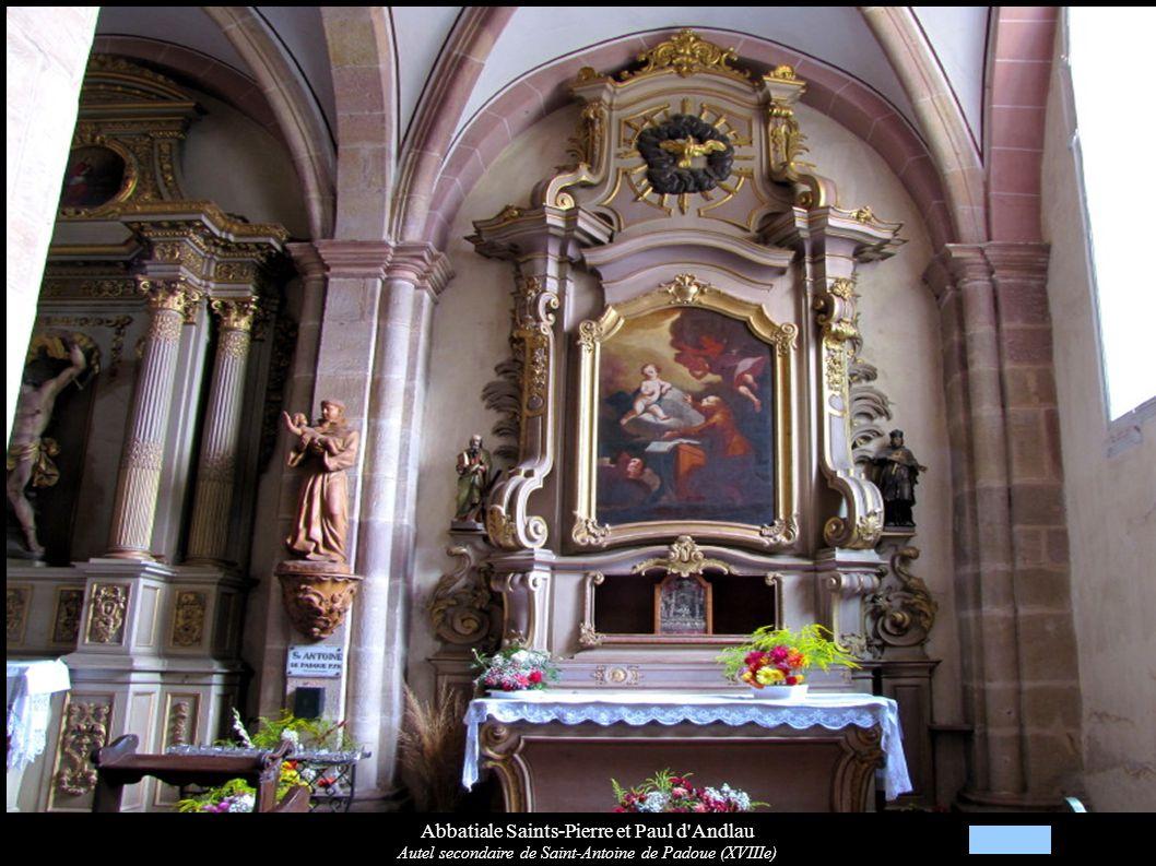 Abbatiale Saints-Pierre et Paul d'Andlau Autel secondaire de Saint-Antoine de Padoue (XVIIIe)