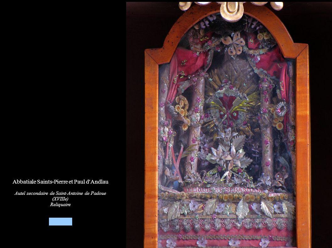 Abbatiale Saints-Pierre et Paul d'Andlau Autel secondaire de Saint-Antoine de Padoue (XVIIIe) Reliquaire