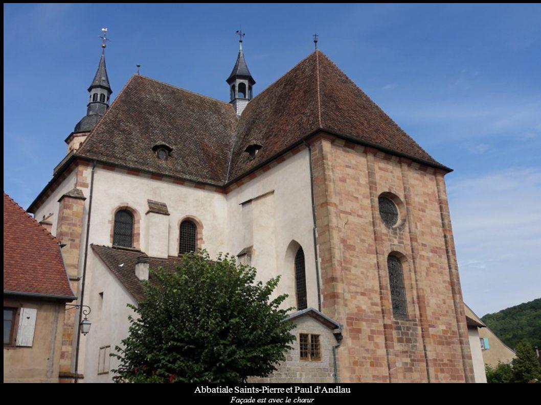 Abbatiale Saints-Pierre et Paul d'Andlau Façade est avec le chœur