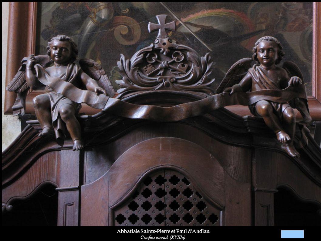 Abbatiale Saints-Pierre et Paul d'Andlau Confessionnal (XVIIIe)