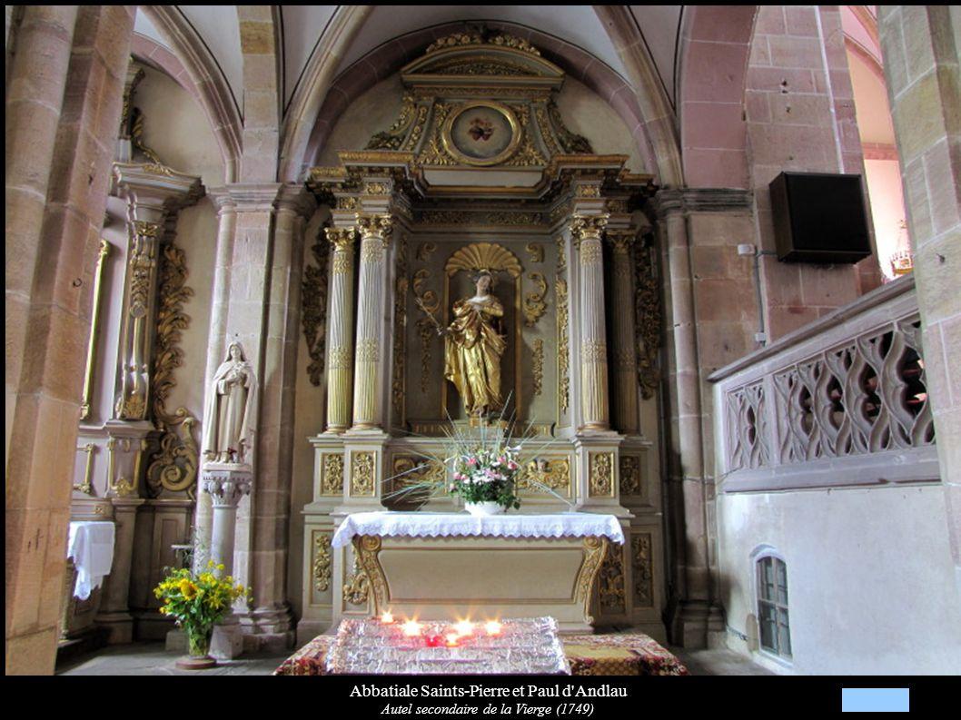 Abbatiale Saints-Pierre et Paul d'Andlau Autel secondaire de la Vierge (1749)