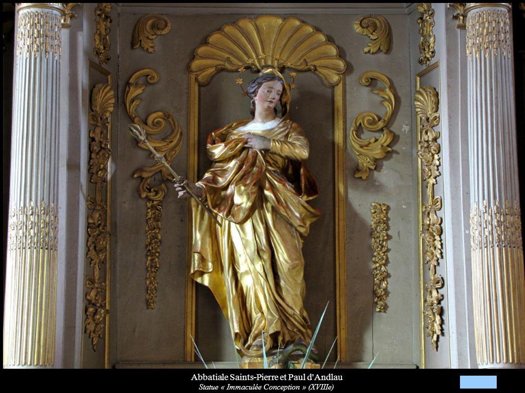 Abbatiale Saints-Pierre et Paul d'Andlau Statue « Immaculée Conception » (XVIIIe)