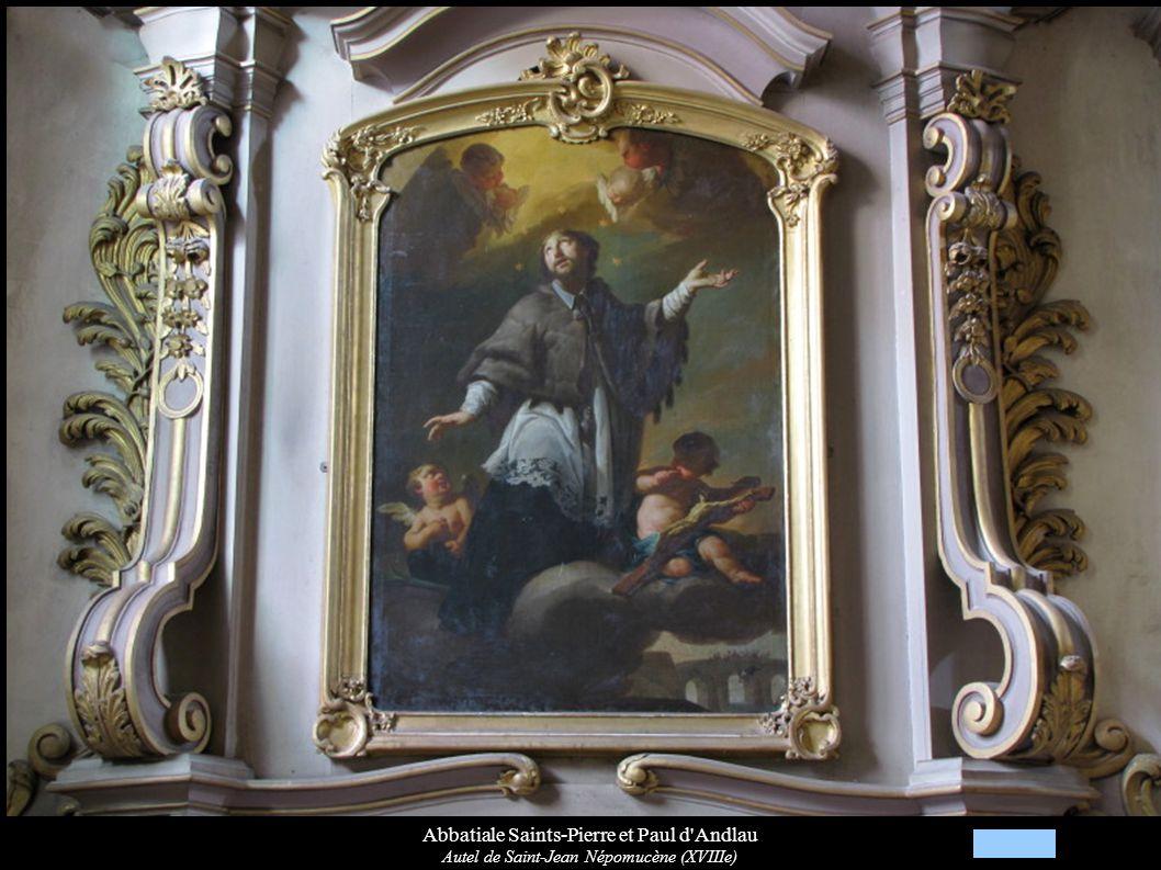 Abbatiale Saints-Pierre et Paul d'Andlau Autel de Saint-Jean Népomucène (XVIIIe)