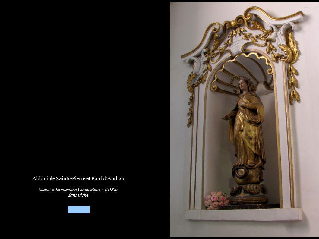 Abbatiale Saints-Pierre et Paul d'Andlau Statue « Immaculée Conception » (XIXe) dans niche