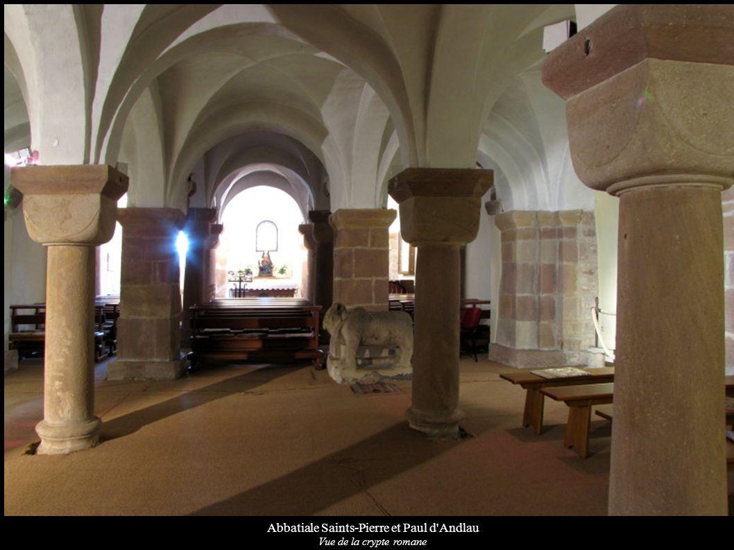Abbatiale Saints-Pierre et Paul d'Andlau Vue de la crypte romane