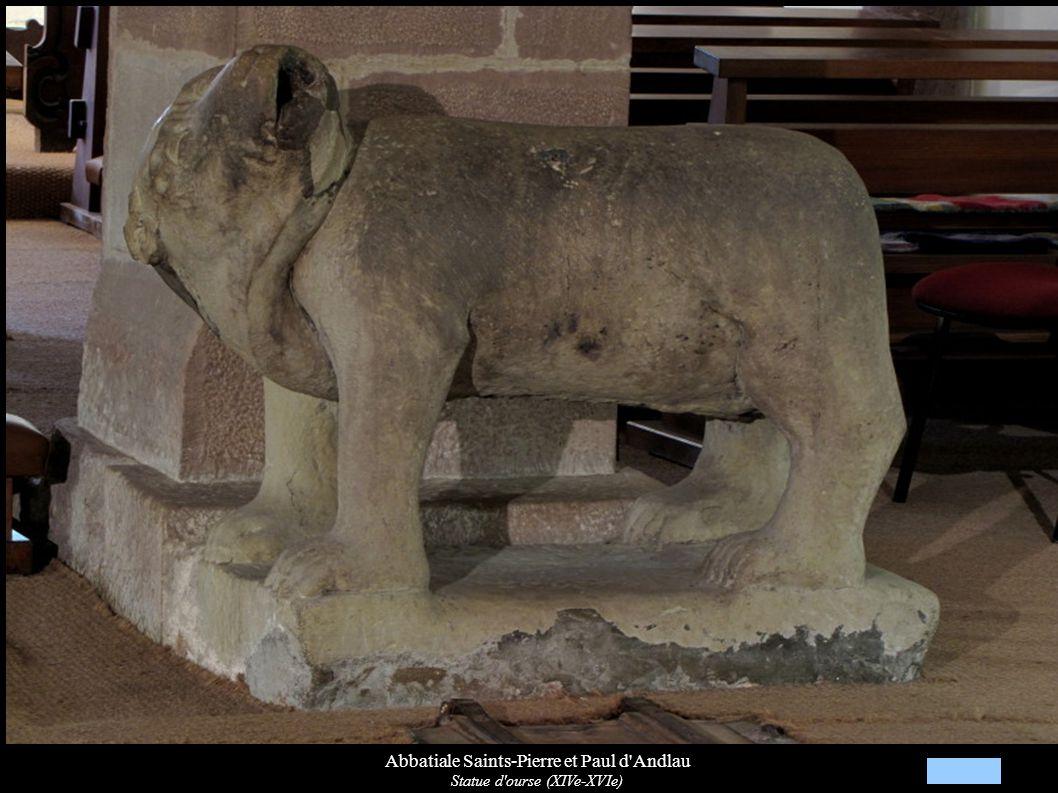 Abbatiale Saints-Pierre et Paul d'Andlau Statue d'ourse (XIVe-XVIe)