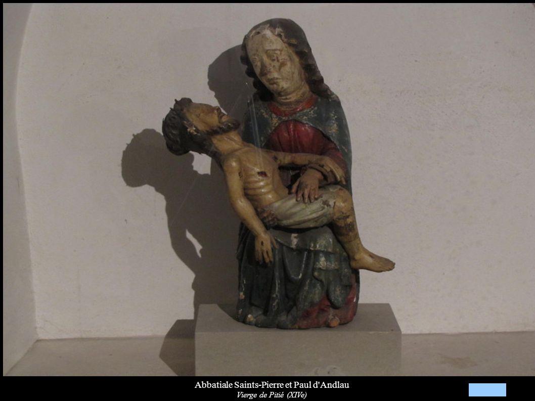 Abbatiale Saints-Pierre et Paul d'Andlau Vierge de Pitié (XIVe)
