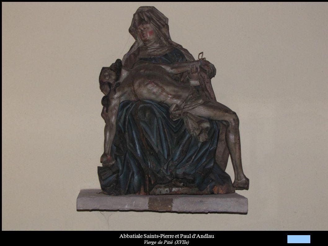 Abbatiale Saints-Pierre et Paul d'Andlau Vierge de Pitié (XVIIe)