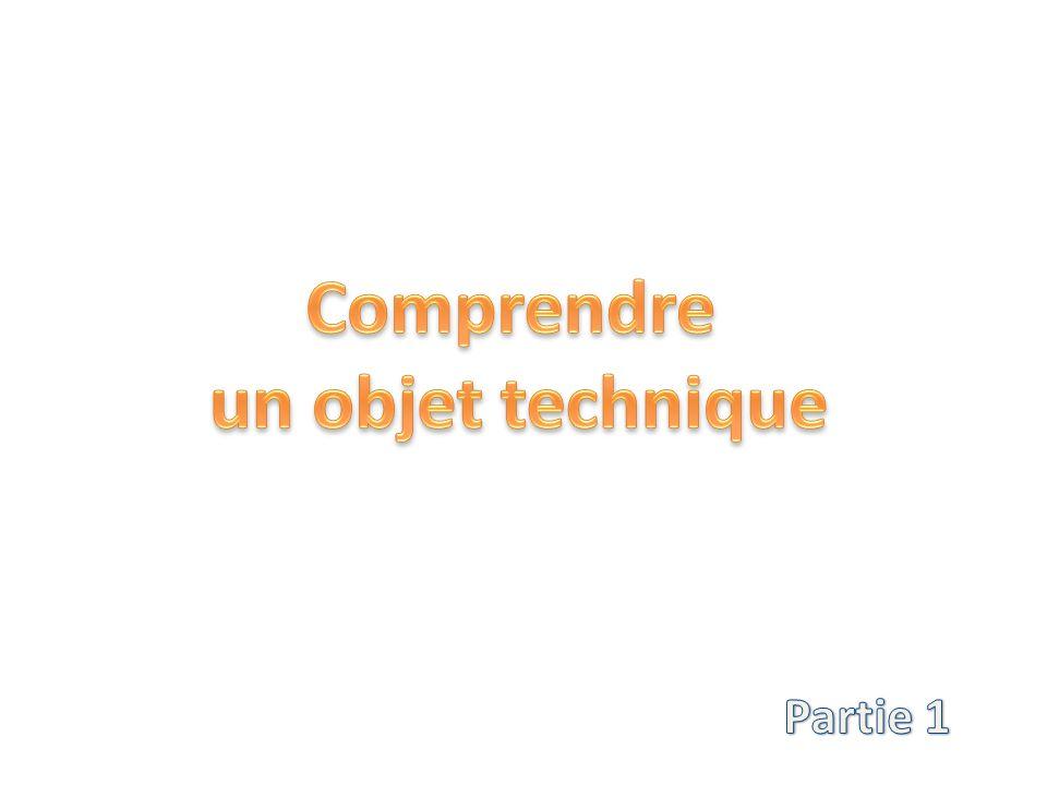 Un objet technique est rarement un objet simple Il va être composé de plusieurs parties.
