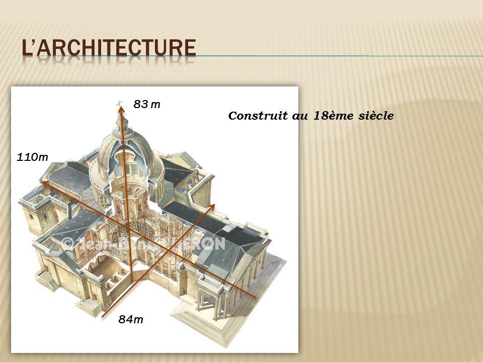 Construit au 18ème siècle 110m 84m 83 m