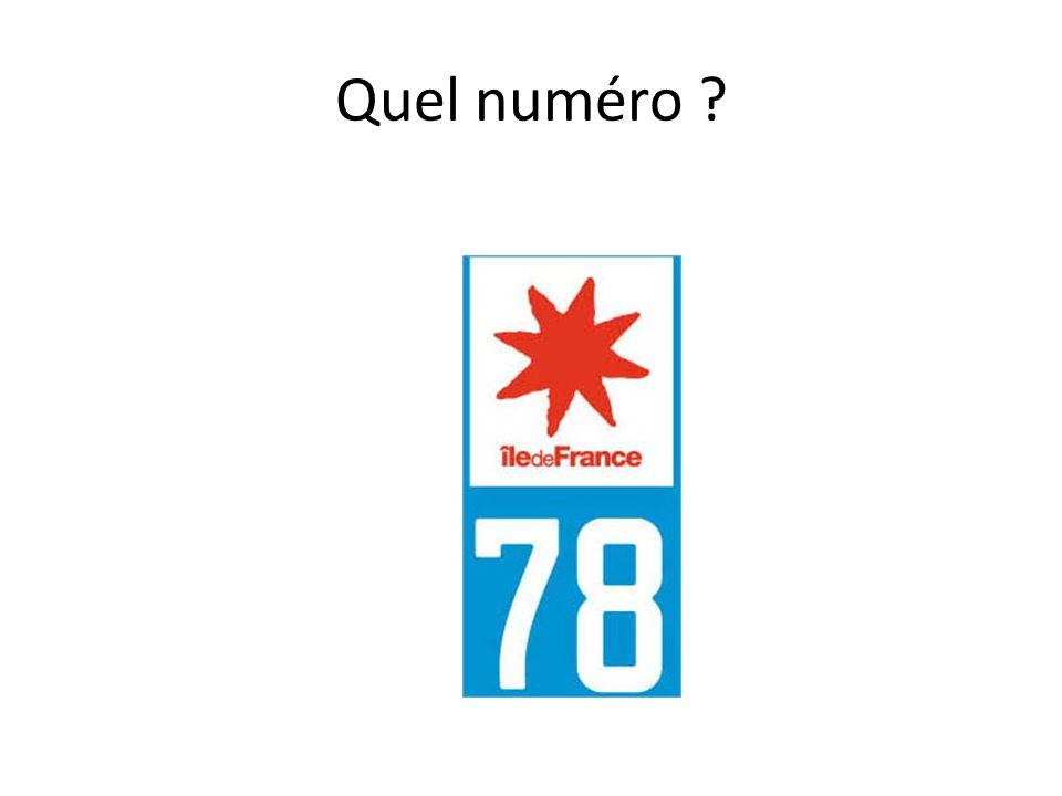 Quel numéro ?