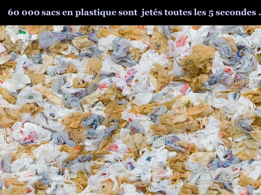 60 000 sacs en plastique sont jetés toutes les 5 secondes.