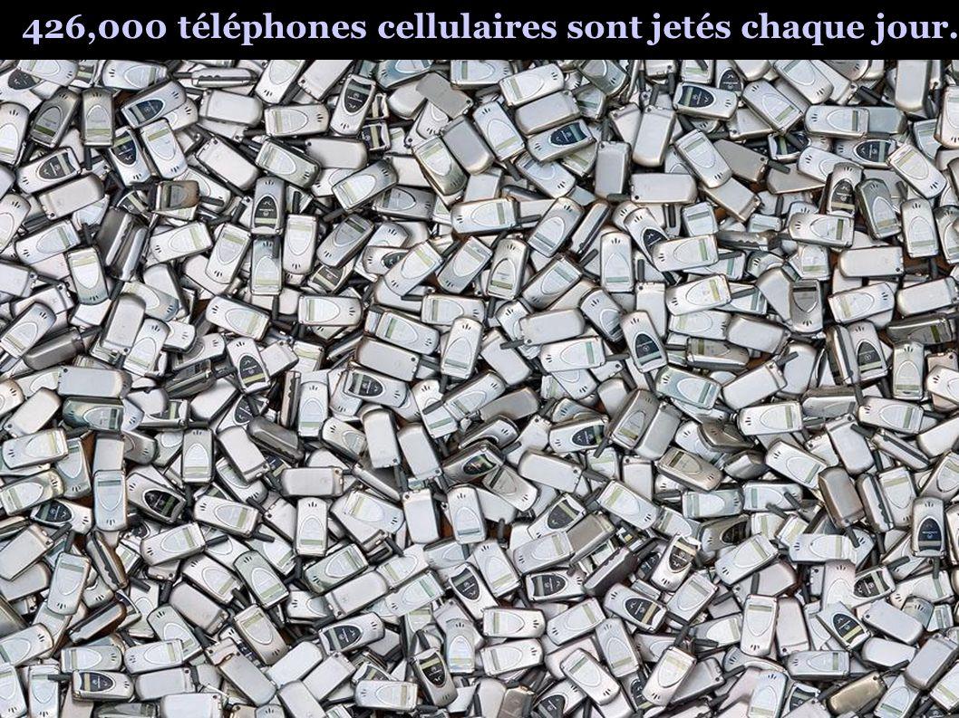 426,000 téléphones cellulaires sont jetés chaque jour.