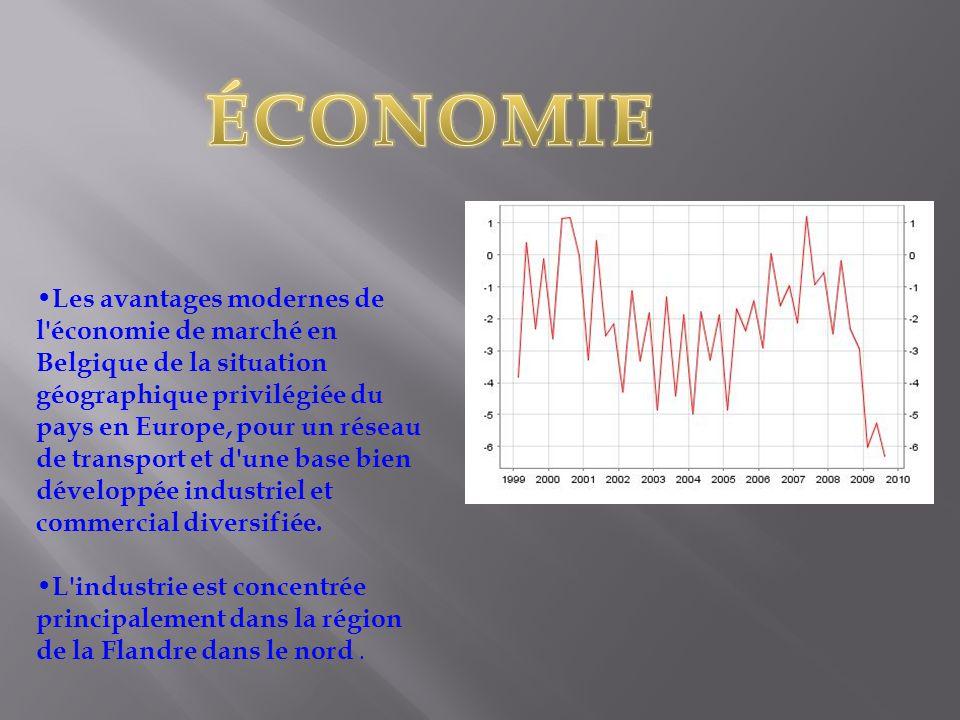 Les avantages modernes de l économie de marché en Belgique de la situation géographique privilégiée du pays en Europe, pour un réseau de transport et d une base bien développée industriel et commercial diversifiée.