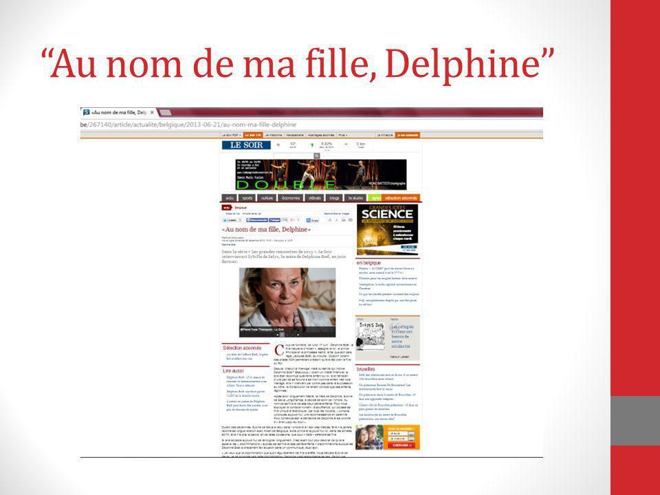 Au nom de ma fille, Delphine