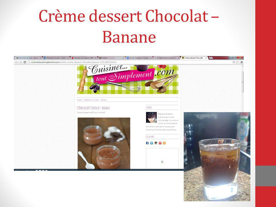 Crème dessert Chocolat – Banane