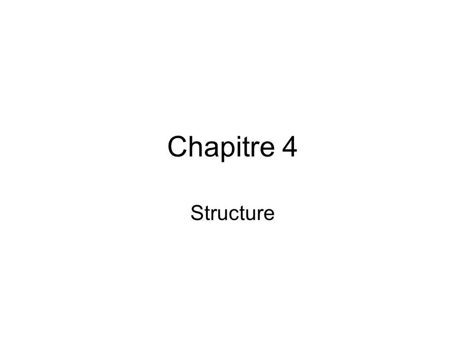 Chapitre 4 Structure