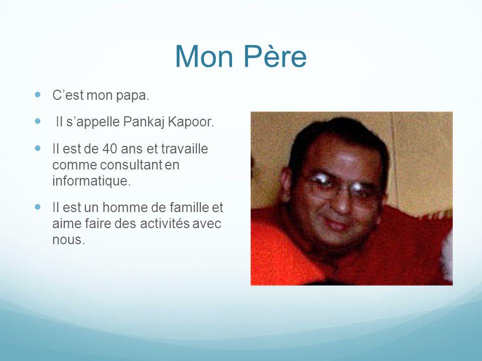 Mon Père C'est mon papa.Il s'appelle Pankaj Kapoor.