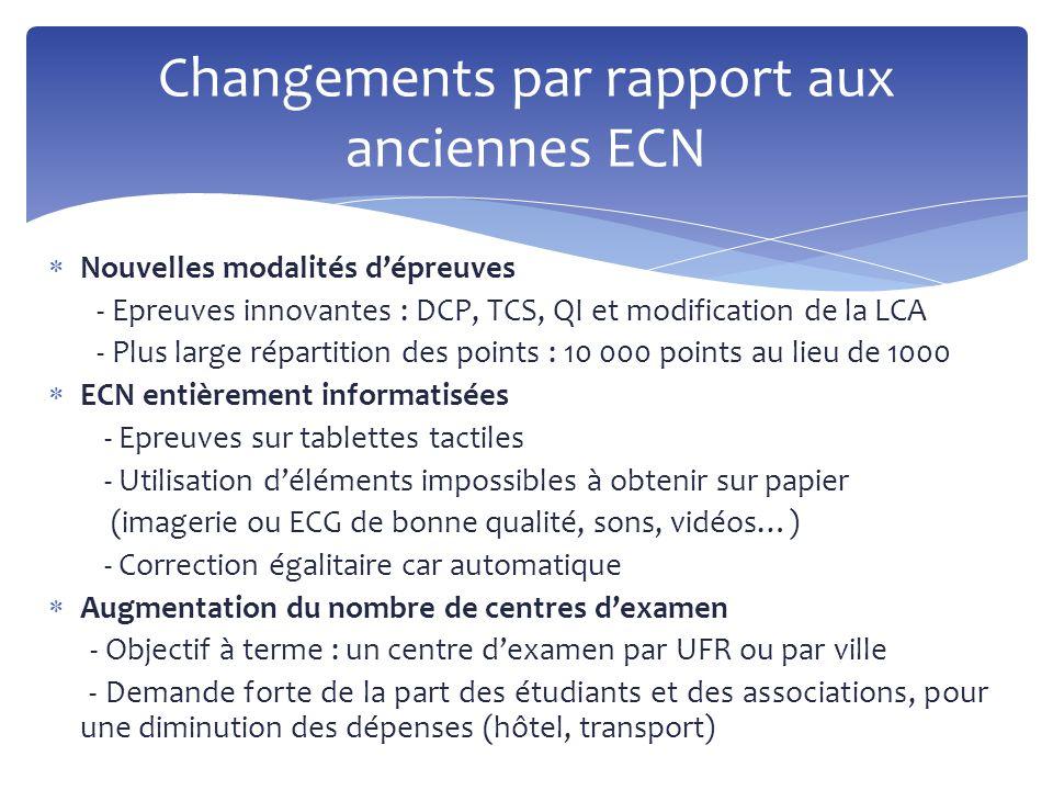  Nouvelles modalités d'épreuves - Epreuves innovantes : DCP, TCS, QI et modification de la LCA - Plus large répartition des points : 10 000 points au