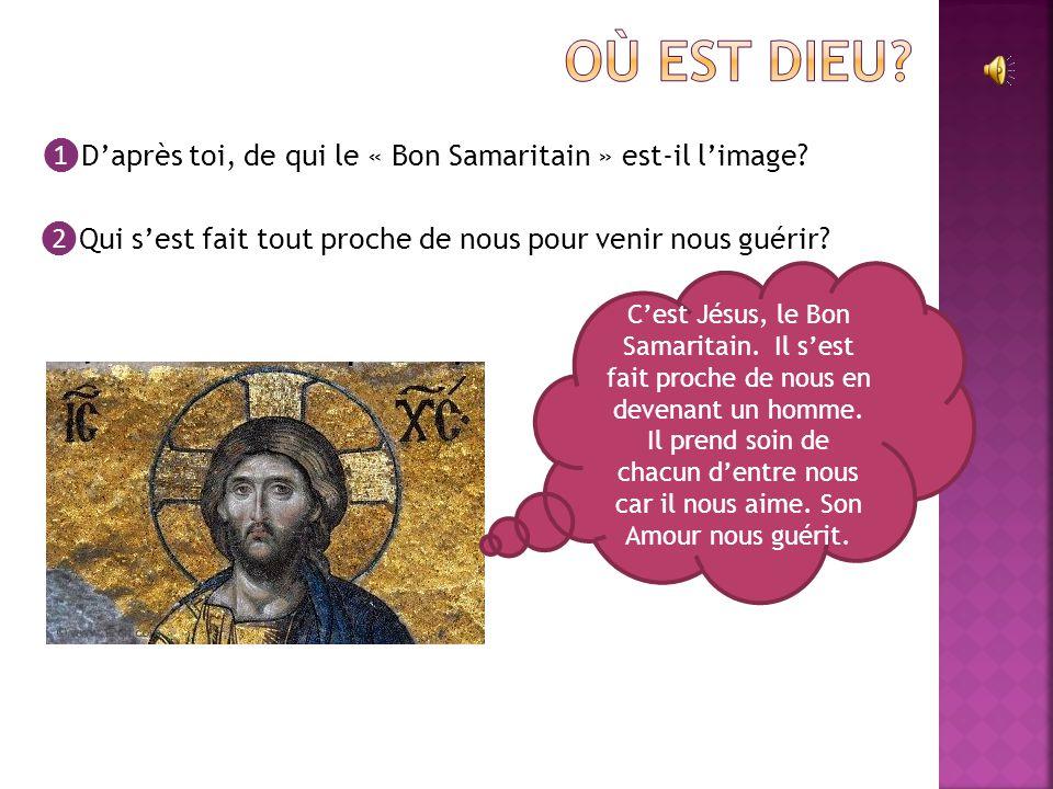 ❶ D'après toi, de qui le « Bon Samaritain » est-il l'image.