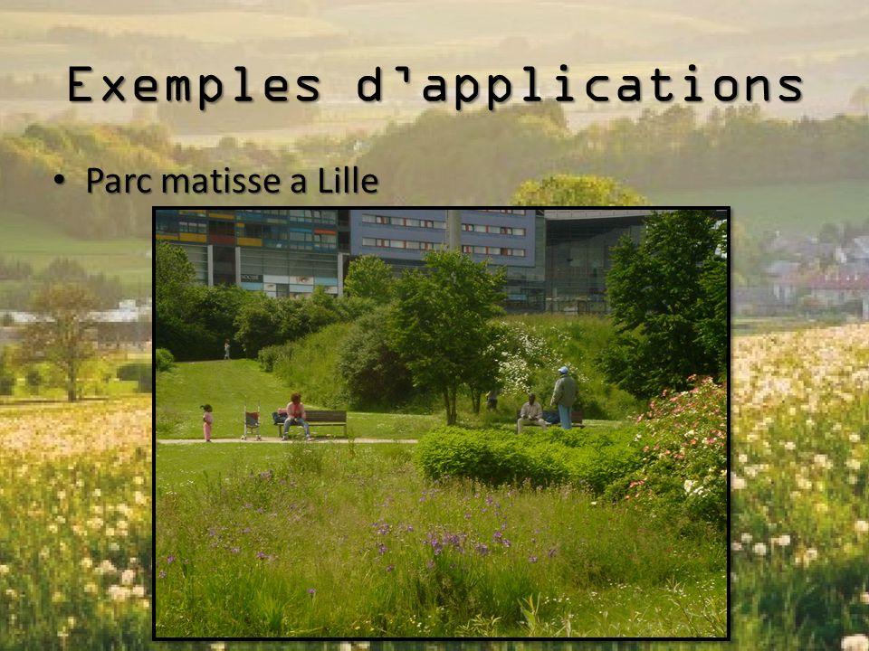 Exemples d'applications Parc matisse a Lille Parc matisse a Lille