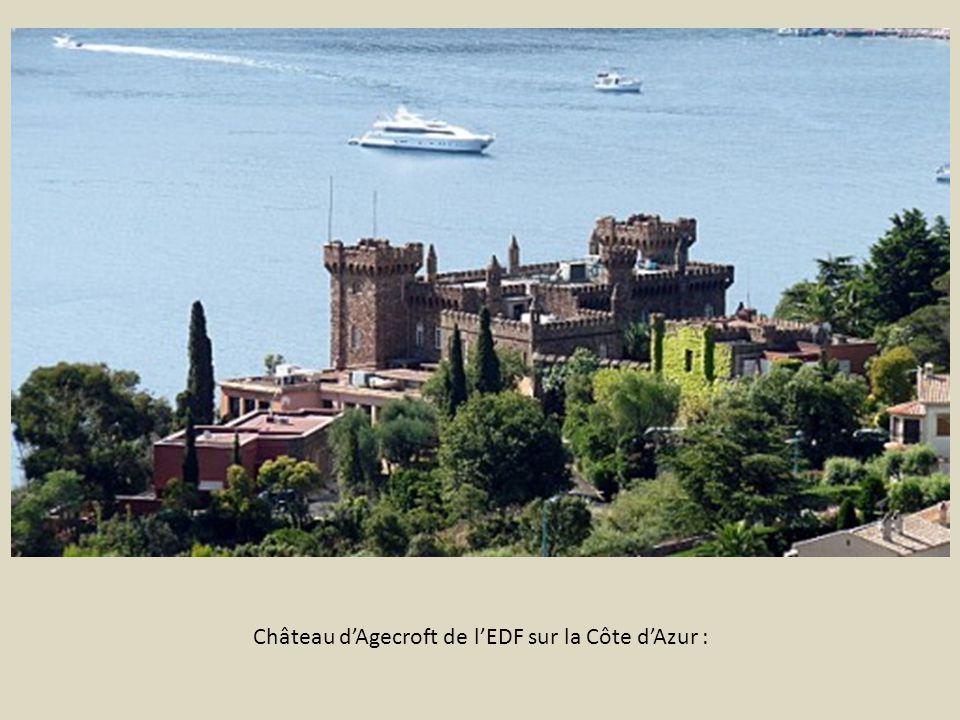 Château d'Agecroft de l'EDF sur la Côte d'Azur :