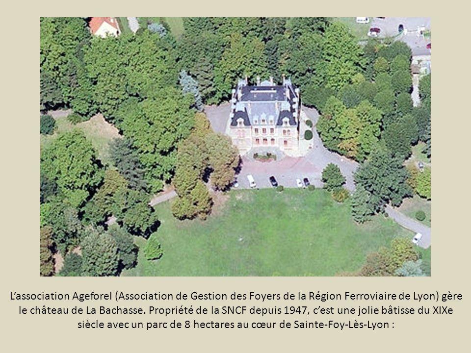 L'association Ageforel (Association de Gestion des Foyers de la Région Ferroviaire de Lyon) gère le château de La Bachasse.