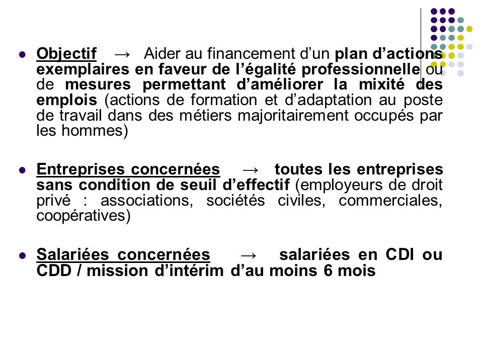 Modalités → Signature d'un contrat individuel ou collectif conclu entre l'Etat, l'entreprise et la ou les bénéficiaires.