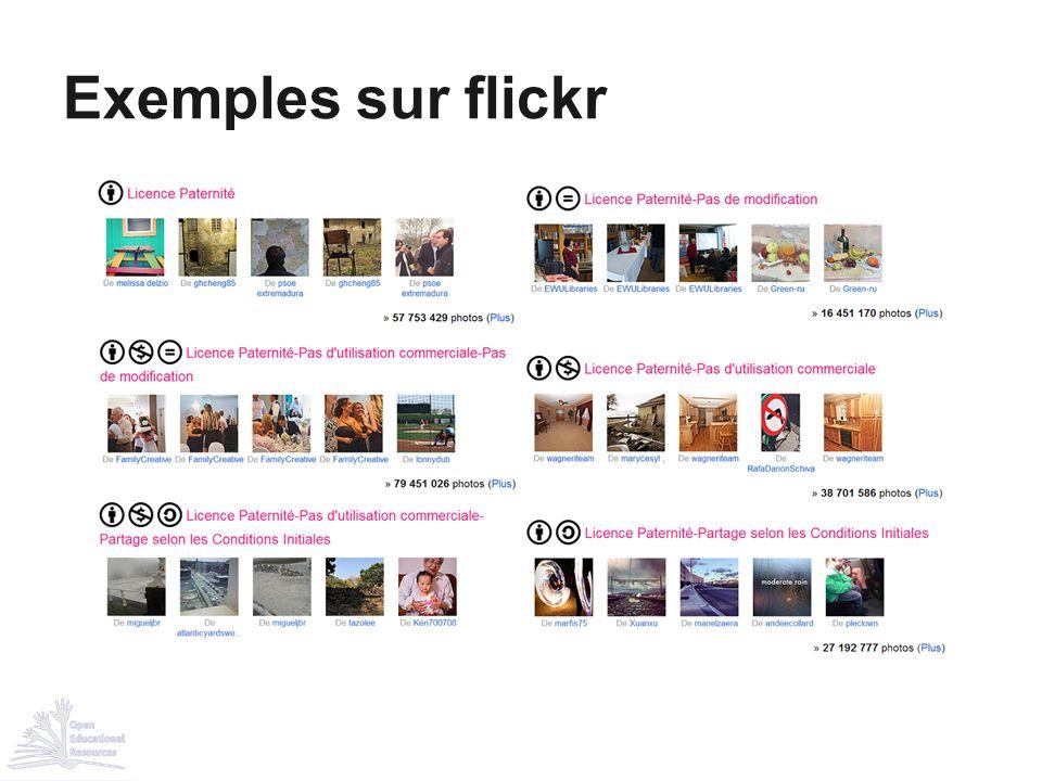 Exemples sur flickr