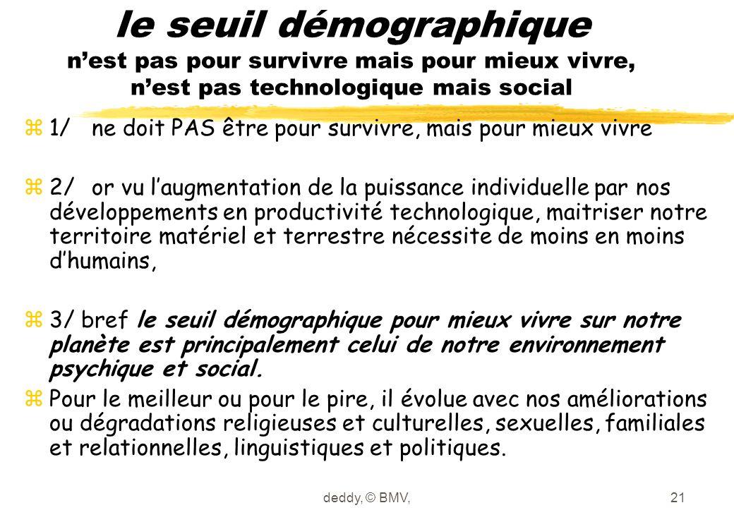 deddy, © BMV,21 le seuil démographique n'est pas pour survivre mais pour mieux vivre, n'est pas technologique mais social z1/ne doit PAS être pour sur